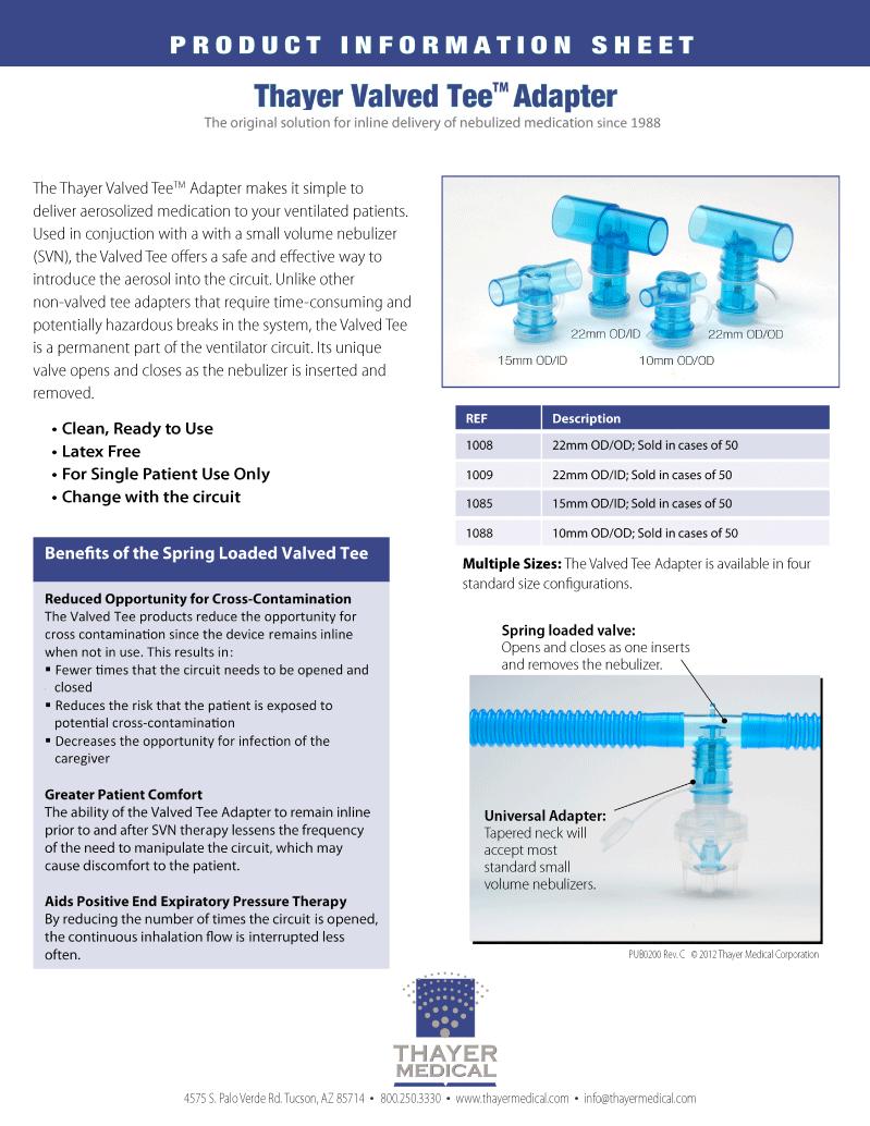Valved-Tee-Data-Sheet